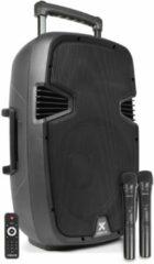 Vonyx SPJ-PA912 500W mobiele accu-speaker met twee draadloze microfoons