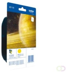 Brother LC-1100Y Yellow Ink Cartridge Blister Pack inktcartridge Original Geel