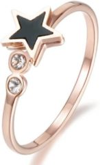 Roze Cilla Jewels ring Verguld edelstaal Star Rose-17mm
