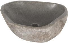 Antraciet-grijze Differnz Lombok - Waskom natuursteen - 40 x 50 x 15 cm