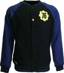 Merkloos / Sans marque Fallout 4 Fallout 76 College Varsity Vest Jas Zwart / Blauw / Geel N.v.t. Heren Vest Maat XXL