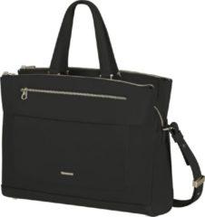 Zwarte Samsonite Laptopschoudertas - Zalia 2.0 Bailhandle 3 vakken 14.1 inch Black