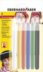 Schminkstiften Eberhard Faber draaibaar set 6 kleuren op blisterkaart EF-579107