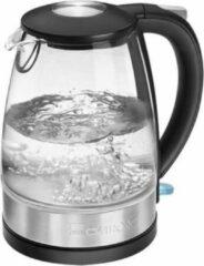 Zwarte Clatronic Waterkoker WKS 3680 G 1.7 L 2200 W transparant