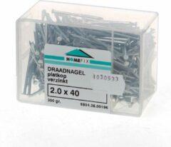 Hoenderdaal Draadnagel plat geruite kop gegalvaniseerd 2.0 x 40mm 350 gram (Prijs per 2 dozen)