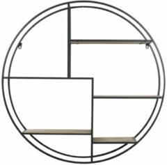 Light & Living Juna - Open Wandkast - 92 x 92 x 26 cm - Zwart