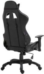 VidaXL Gamingstoel kunstleer grijs
