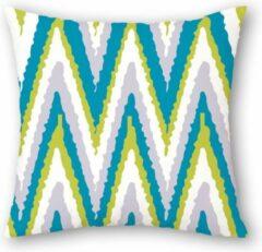 Blauwe By Javy Kussenhoes Graphic groen - Yuna - Kussenhoes - 45x45 cm - Sierkussen - Polyester