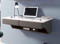 Schreibtisch hängend Weiss Matt/ Lava Bega Desk