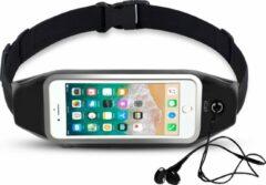 Zwarte Heupband Running Belt iCall – Hardloopband Sportband Riem met Smartphone Houder – Hardloopriem Gordel Heuptas voor Fitness en Hardlopen (Apple, Samsung, Huawei, HTC, LG, Sony)