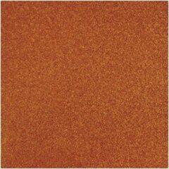 Rayher hobby materialen 3x stuks oranje glitter papier vellen 30.5 x 30.5 cmm - Hobby scrapbooking artikelen
