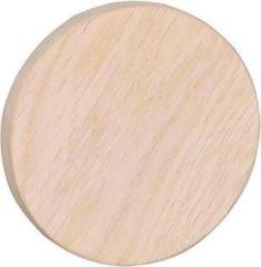 Bruine Nordiq Memphis houten kapstokhaak - Wandknop - Ø8 cm - Whitewash