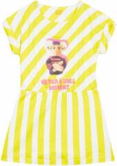Beige Oilily Turn jersey jurkje met urker dolls print