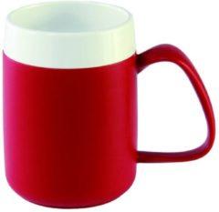 Adhome Isolerende beker met ergonomisch handvat 320 ml - rood