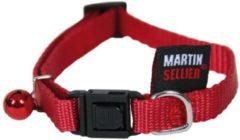 Martin sellier Halsband voor kat nylon uni rood 10 mmx20-30 cm