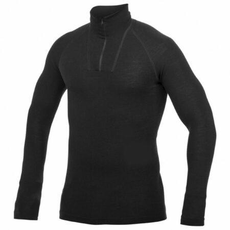 Afbeelding van Woolpower - Zip Turtleneck - Merino-ondergoed maat S, zwart