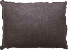 Grijze VTWonen - Cushion Linen Dark Grey 50x70cm