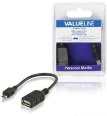 Valueline USB-Adapterkabel USB 2.0 eine weiblich-USB 2.0 Micro-B männlich OTG s