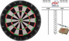 Merkloos / Sans marque Dartbord 45 cm met 6 dartpijlen met scorebord met marker en wisser 45x30 cm