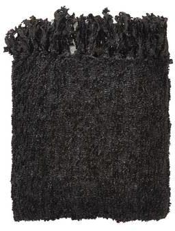 Afbeelding van Zwarte Dutch Decor Fedde - Plaid - Polyester - 130 x 180 cm - Zwart/subtiel glitter