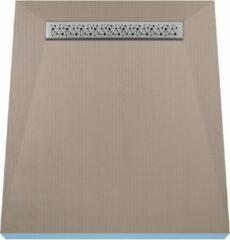 Creme witte Wiper Douchebak 90 x 150 cm met douchegoot 60 cm type Mistral