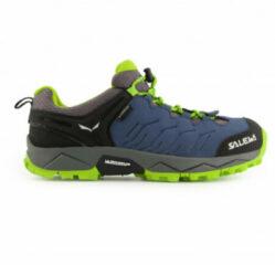 Salewa - Kid's MTN Trainer WP - Multisportschoenen maat 36, blauw/groen
