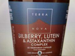 Terranova Bilberry lutein & astaxanthin complex Inhoud: 100 capsules