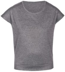 Rundhals-T-Shirt 'ELEGANT MELANGE' sassa melange grey