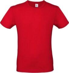 Bc Rood basic t-shirt met ronde hals voor heren - katoen - 145 grams - rode shirts / kleding L (52)
