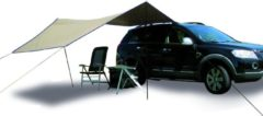 Eurotrail Tarp Carside Safari zonnescherm Beige/Marineblauw