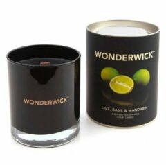 Wonderwick Basil Mandarin kaars zwart