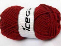 Ice yarns Merino wol rood donker – breiwol kopen merinowol 50% gemengd met 50% acryl garen – breigaren 100gram per bol breinaalden maat 7 mm – wol breien met plezier | DEWOLWINKEL.NL