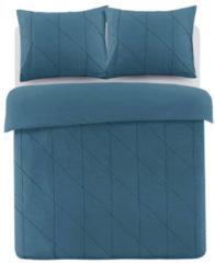 Blauwe Papillon Canberra Dekbedovertrek - 1-persoons (140x200/220 Cm + 1 Sloop) - Percal Katoen - Petrol