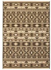 VidaXL Vloerkleed binnen/buiten 80x150 cm sisal look etnisch ontwerp