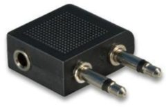 Goobay 61004 Jackplug Audio Y-adapter [2x Jackplug male 3.5 mm - 1x Jackplug female 3.5 mm] Zwart