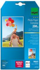 Inkjetfotopapier Everyday plus 10x15 wit 200gr glans 20+4 vel