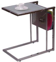 Möbel direkt online Moebel direkt online Beistelltisch Glastisch Metalltisch Tisch mit Zeitungsablage