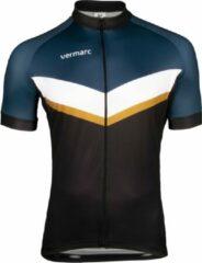Blauwe Vermarc Puntino SP.L Jersey Black/Petrol/Gold Size XL