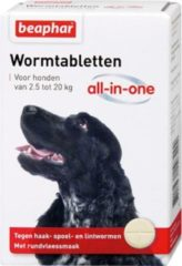 Beaphar Wormtablet All In One Hond - Anti wormenmiddel - 2 tab 2.5 Tot 20 Kg