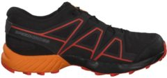 Trail Running Schuhe Speedcross mit Quicklace CSWP J 398409 Salomon Black/Tangelo/CHERRY TOMATO