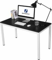 Vasagle Bureau Zwart/Wit Hout - Groot Computerbureau - Stevige En Mooie Kantoortafel