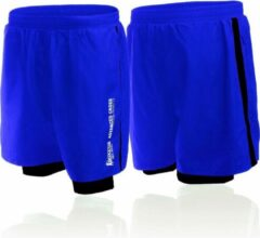 Boxeur Des Rues Short In Poly With Short Inside To Contr-blue