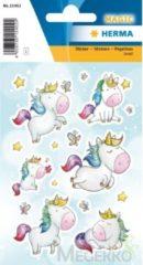 HERMA 15402 Stickers eenhoorn sterren stof, jewel