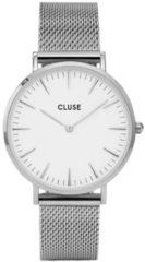 Zilveren Cluse La Bohème Mesh Horloge CL18105 - White/Silver