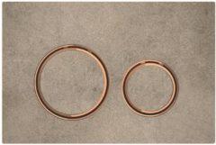 Geberit Sigma 21 bedieningplaat met dualflush frontbediening voor toilet 24.6x16.4cm rood goud / betonlook 115.650.JV.1