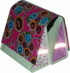 Atelier Du Baj Du Baj Mexi Kidz Floral Hot Pink - Dubbele Fietstas - 21 l - Roze