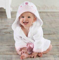 Roze Baby badjas - Komfor - Princes - Inclusief gratis baby borstel & kam