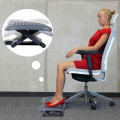 Zwarte Merkloos / Sans marque Verstelbare voetensteun voor onder het bureau - Ergonomische voetenbank bureau - Voetenbank - Kantoor
