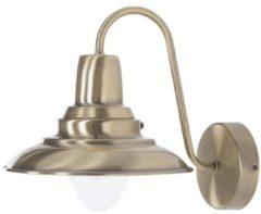 Grijze Beliani Luza Wandlamp Metaal 20 X 20 Cm