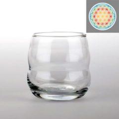 Transparante Yogi & Yogini Drinkglas Mythos met Bloem des Levens Veelkleurig